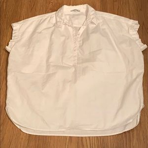 Central Popover Shirt in Eyelet White